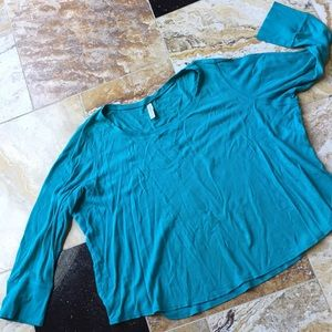 Lane Bryant Cacique Supersoft teal green thermal